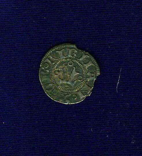 """ITALY / ITALIAN STATES PAPAL FERMO POPE MARTINO V 1428-1431 """"BOLOGNINO"""" COIN, XF"""