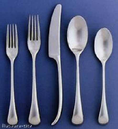 DANSK TORUN 5 pc piece Place Setting Stainless Flatware NEW
