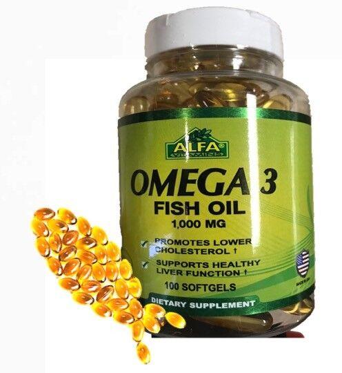 Omega 3 Bottle XL Anti Inflammatory Joint Relief Supplement 1000 mg CONCETRATE 1