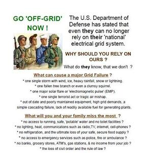 Preppers, Survivalists, back-to-the land 'OFF-GRID' Folks..SOLAR