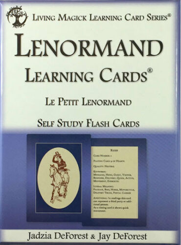 Lenormand Learning Cards - Living Magick Learning Cards - Self Study Flash Cards