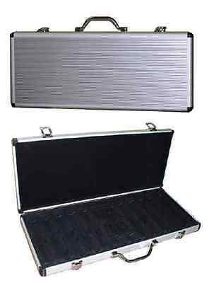 500 Poker Chips Expandable Locking Case Casino Style Case Holds Up To 600+ *