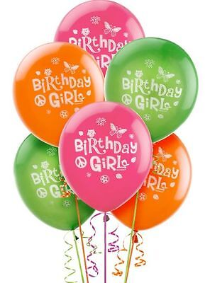 HDAY GIRL BALLOONS PARTY DECORATIONS BUTTERFLY PEACE SIGN (Hippie Chick Birthday)