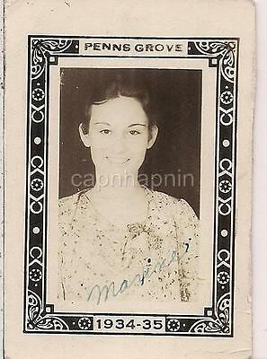 Pretty Young ID'd Tween Teen Girl Vtg 1934-'35 PENNS GROVE NJ Vtg School Photo](Pretty Tween Girl)