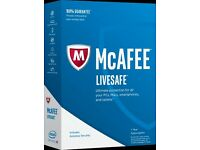 2 x McAfee 1 Year subscriptions