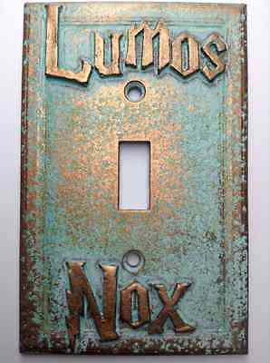 Age Light Switch Covers (Lumos/Nox Harry Potter Light Switch Cover - Aged Copper/Patina or Stone)