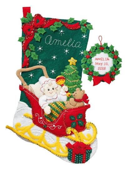 Bucilla 'Christmas Baby' Christmas Felt Stocking Stitchery E