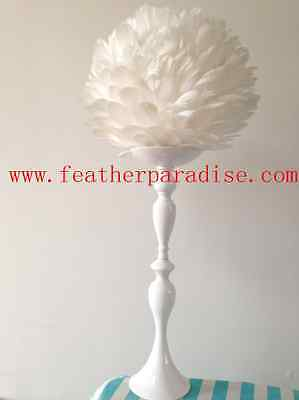 New! White Large Feather Balls Centerpieces Ball Wedding Balls 16 inches (USA)   (Feather Ball Centerpieces)
