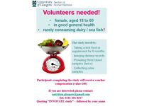 *** Healthy Female Volunteers Needed for Nutrition Study at University of Glasgow***