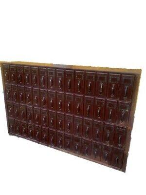 Vintage Industrial File Cabinet 56 Drawer Courthouse Ledger Filing Unit 1940s