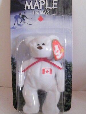 McDonalds 1999 TY Maple The Bear Beanie Baby