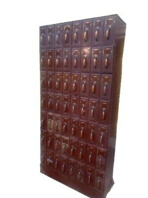 Vintage Industrial Filing Cabinet 56 Drawer Storage 1940s Court Filing