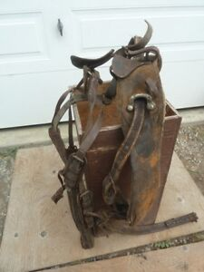 Old Leather Horse Harnesses and Old Collar
