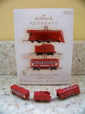 Hallmark 2009 The Red Comet Set Lionel Trains mini set Christmas Ornament