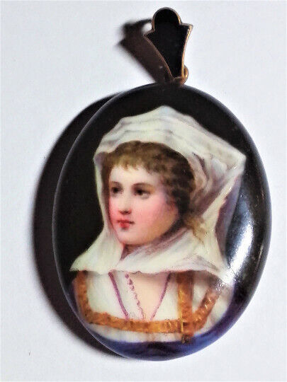 17th Century Porcelain Portraits Hair Locket.1490-1544