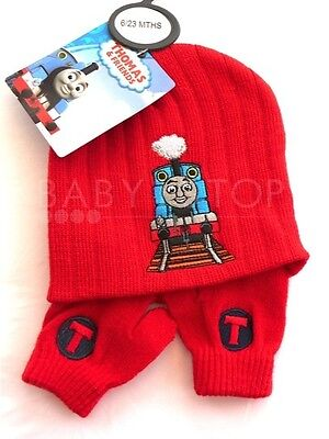 284fa91d728 Thomas The Tank   Friends Baby Boys Ribbed Hat   Mitt Set Embroidered 6-23  Mths