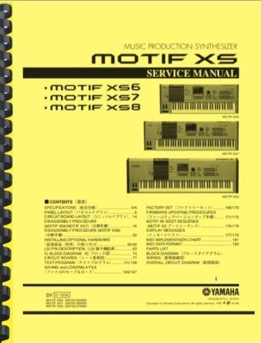 Yamaha MOTIF XS6 XS7 XS8 Synthesizer SERVICE MANUAL