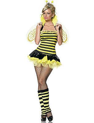 NWT SEXY QUEEN BEE HONEY BUMBLEBEE black yellow - Sexy Bumblebee Kostüme