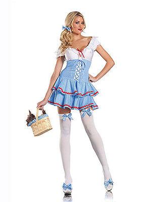 NWT SWEET DOROTHY WIZARD OF OZ Halloween Cosplay Fantasy Costume S/M](Dorothy Cosplay)