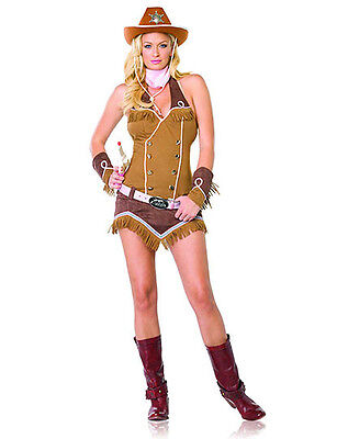 LEG AVENUE SEXY WESTERN QUICKDRAW COWGIRL Halloween Cosplay Costume XS S M