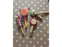 Fantastic 5 piece girls wooden music set for toddler fantastic condition
