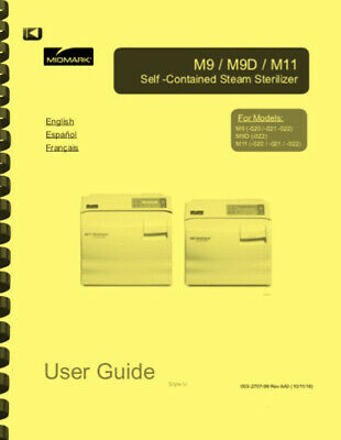 Midmark M11 M9d M9 Ultraclave Automatic Sterilizer Owners Manual