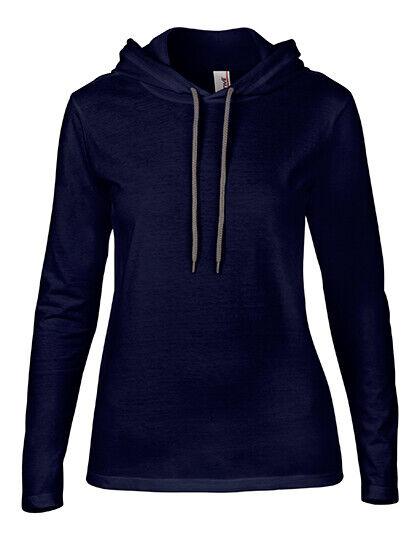 Damen Hoody Langarm Hoodie Sweatshirt Sommerliches Material