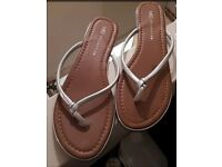 M&S Silver Sandals - Size 7 - Brand New