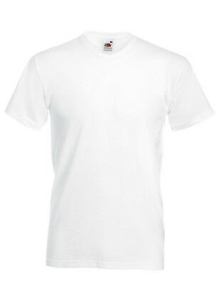 Fruit of the Loom Valueweight V-Neck T S - 5XL 10er WEIß T-SHIRTS F270