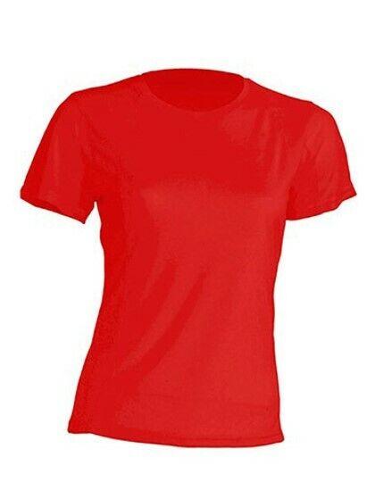 Damen Sport T-Shirt Rundhals Quick Dry Gr.S-XXL neon in 12 Farben JHK101