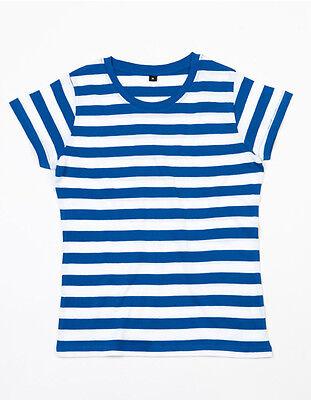 Streifen T-Shirt Damen gekämmte Baumwolle Flügelärmel Women´s Stripy T