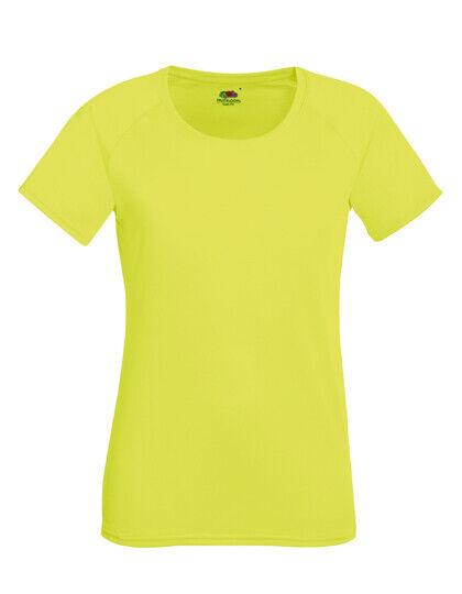Damen Funktionsshirt Laufshirt Fruit of the Loom Performance T-Shirt Lady Fit