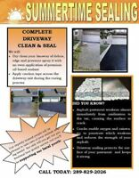 Fall discount 20% off on driveway sealing today!