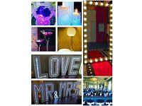 Wedding and Event Decor Hire (Photobooth/Magic Mirror/LED LOVE/Centrepiece/Chair Covers