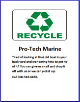 Recycle boats at Pro-Tech Marine