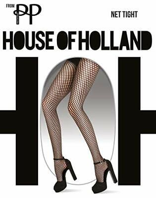Pretty Polly House of Holland Black Net Tights One Size MSRP $30.00 NWT