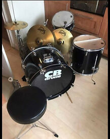 Cb drum kit with solar cymbals