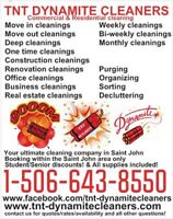 TNT DYNAMITE CLEANERS - BOOKING NOW FOR UPTOWN/SOUTH/CENTRAL