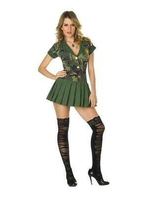 Ladie's Camo Cutie Dress costume from Spirit Halloween - Size Med with Army Hat - Halloween Costumes From Spirit