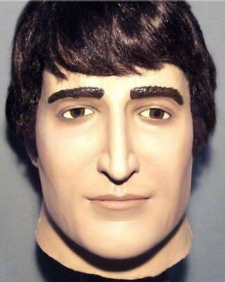 JOHN LENNON LATEX MASK -- Costume Prop The Beatles Fab Four Cosplay Halloween !!
