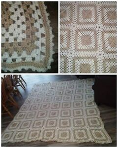 "VINTAGE 'king sized' crocheted Afghan!! Massive 96"" x 82"""