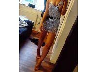 Ibiza Silver Tassle Dress brand new