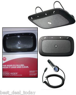 OEM Motorola Sonic Rider TX550 TX-550 Bluetooth In-Car Speaker Speakerphone Kit