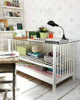 What and How to Repurpose keepsake Hardwood Crib...Genius!