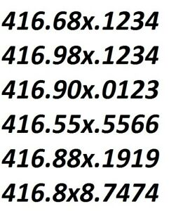 905/647/416 AREA CODE PHONE NUMBERS ENDING 000X, X000