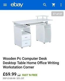 Wooden PC Computer Desk (USED) Excellent Condition