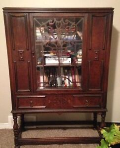 Antique wood hutch
