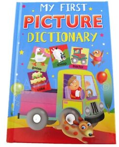 CHILDS MY FIRST PICTURE DICTIONARY BOOK OVER 350 WORDS & PICTURES EDUCATIONAL