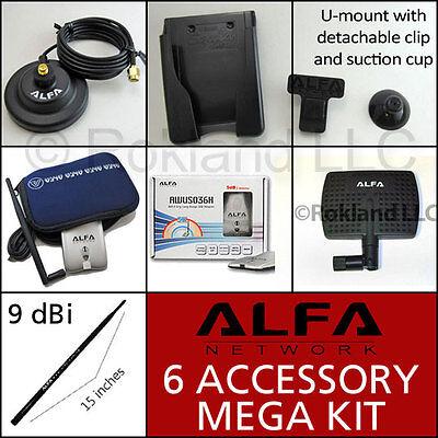 Alfa Awus036h Usb Wi-fi + Apa-m04 & Ars-n19 Antenna + Ars-as01 Kit For Windows 7