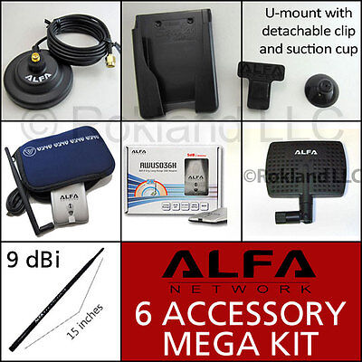 Alfa Awus036h Usb Wi-fi + Apa-m04 & Ars-n19 Antenna + Ars-as01 Kit For Windows 7